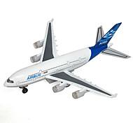 abordables -CAIPO Petites Voiture Avion Musique et Lumière Alliage de métal Plastique pour Enfant