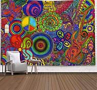 abordables -tapisserie murale art décor couverture rideau pique-nique nappe suspendu maison chambre salon dortoir décoration polyester coloré rond instrument de musique vues