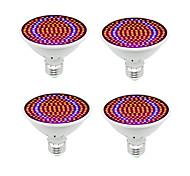 abordables -4pcs LED phyto hydroponique élèvent la lumière E27 200 LED élèvent l'ampoule spectre complet 85-265V lampe plante système de semis de fleurs