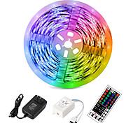 abordables -5m LED flexible bandes lumineuses Ensembles de lumière RVB Tiktok Lights 2835 SMD 8mm RVB Télécommande RC Coupable Dimmable 100-240 V Linkable Auto-adhésif Changement de couleur IP44