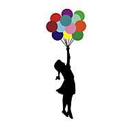 economico -adesivi creativi fai-da-te adesivi murali graffiti in pvc porta palloncini colorati bambine 19 * 33 cm