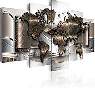 economico -la mappa del mondo stampa su tela astratta wall art pittura decor per la decorazione domestica opera d'arte immagine camera da letto ufficio (a, oltre il formato 60 `` x 30 '')