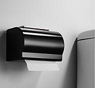 abordables -Porte-papier toilette noir avec étagère de salle de bain multifonction 3 styles en aluminium mural - 1 pc