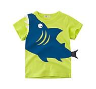 economico -Bambino Da ragazzo maglietta T-shirt Manica corta Animali fantastici Animali Con stampe Blu Giallo Verde Cotone Bambini Top Estate Essenziale