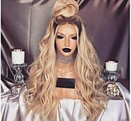 abordables -Perruque Synthétique Bouclé Coupe Asymétrique Perruque Longue Blond Cheveux Synthétiques 26 pouce Femme Classique Exquis Duveteux Blond