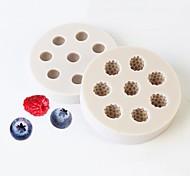 economico -stampo da forno attrezzature e accessori stampo per pasticceria al cioccolato stampo in silicone a forma di mirtillo lampone 3d stampo per decorazione torta fai da te