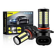 abordables -2pcs 12-24v voiture p13w phare led h16 5202 h11 h8 led 9005 hb3 9006 hb4 p13w 5730 33 led auto antibrouillard ampoule de voiture super blanc jaune étanche