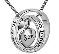 abordables -aux femmes&les hommes ne sont plus à mes côtés, pour toujours dans mon coeur collier urne de crémation médaillon sculpté pour maman& papa (fils)