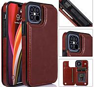 economico -telefono Custodia Per Apple Per retro Custodia in pelle iPhone 12 Pro Max 11 SE 2020 X XR XS Max 8 7 6 Porta-carte di credito Con supporto A calamita Tinta unita pelle sintetica