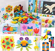 abordables -Puzzles 3D Puzzles en bois Jeux de Logique & Casse-tête Autocollant Lisse Mignon Créatif En bois 1 pcs Enfants Enfant Tous Jouet Cadeau / Interaction parent-enfant