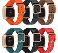economico -Cinturino intelligente per Fitbit 1 pcs Chiusura classica Vera pelle Sostituzione Custodia con cinturino a strappo per Fitbit Versa Fitbit Versa Lite fitbit versa 2