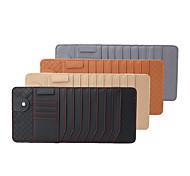 economico -porta fazzoletti per visiera per auto in vera pelle di agnello deranfu con porta cd multi-funzionale porta cd organizer per visiera slot per schede per auto& camion