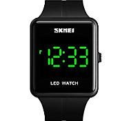 abordables -montre numérique pour homme montre étanche à LED de mode (noir)