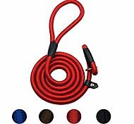 abordables -corde de laisse antidérapante pour chien durable, laisse de dressage pour chien de 4,5 pieds, laisse antidérapante solide, laisse en nylon réglable standard pour petits chiens moyens (10-80 lb) rouge
