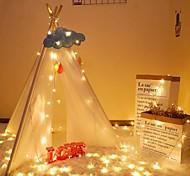 economico -3m 6m 10m luci natalizie a led 20 40 80 led per feste natalizie festa di nozze camera da letto decorazione patio lampeggiatore natalizio luci fatate