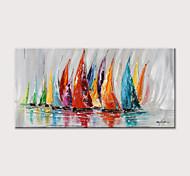 abordables -Peinture à l'huile Hang-peint Peint à la main Abstrait Paysage Format Horizontal Moderne Rideau (sans cadre)