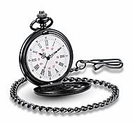 economico -orologi classici vintage facili da rossi orologio da tasca al quarzo in acciaio inossidabile con bella scatola per orologi da tasca (oro)