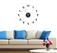 abordables -3D bricolage horloge murale sans cadre miroir autocollant mural décor à la maison pour salon chambre