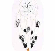 economico -acchiappasogni, acchiappasogni begie di piume nere, bianche e dorate per bambini decorazioni da appendere a parete 75 * 20 cm
