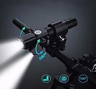 abordables -LED Eclairage de Velo Eclairage de Vélo Avant Phare Avant de Moto Vélo Cyclisme Imperméable Modes multiples Super brillant Design nouveau Blanc