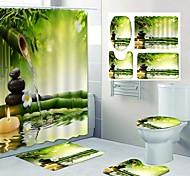 economico -stampa modello mare fresco tenda doccia bagno per il tempo libero design in quattro pezzi