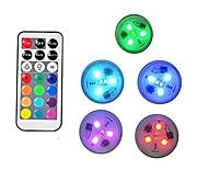 economico -0.5 W 10 pezzi 5 pezzi Controllato da remoto Luci subacquee Batterie alimentate Multicolore 3 Luci per esterni Piscina Adatto per vasi e acquari Perline LED San Valentino Natale