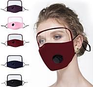 abordables -1 pc masques de protection pur coton masque mince coton protecteur une pièce masque écran complet protection du visage protection des yeux masque en coton