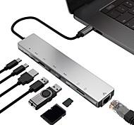 abordables -LITBest Haut débit Avec lecteur de carte (s) Fonction de livraison de puissance de support USB 3.0 de USB C à HDMI 2.0 USB 3.0 RJ45 carte SD Carte TF Concentrateur USB 8 Les ports Pour Windows, PC