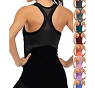 abordables -Femme Haut de yoga Bretelles Croisées Patchwork Gris foncé Noir Bleu Violet Bleu marine Maille Coton Aptitude Exercice Physique Fonctionnement Débardeur T-shirt Sport Tenues de Sport Poids Léger