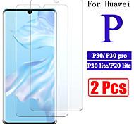 abordables -Protection Ecran Huawei Verre Trempé Huawei P30 Huawei P30 Lite 2 pcs Haute Définition (HD) Dureté 9H Antidéflagrant Ecran de Protection Avant Film Vitre Protection Accessoire de Téléphone
