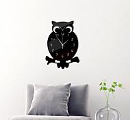 economico -morden orologio da parete in acrilico, silenzioso orologio da parete a forma di gufo senza ticchettio orologio da parete decorativo a batteria per ufficio, cucina, soggiorno