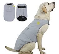 economico -Prodotti per cani Prodotti per gatti Cappottini A quadri Classico Inverno Abbigliamento per cani Vestiti del cucciolo Abiti per cani Griglia Rosso Blu Costume per ragazza e ragazzo cane Poliestere XS