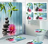 economico -disegno a quattro pezzi della toilette per il tempo libero della tenda della doccia del bagno di stampa del modello fresco