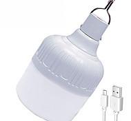 abordables -1 pc 30 W Ampoules Globe LED 1000 lm USB 72 Perles LED SMD 5730 Imperméable Rechargeable Intensité Réglable Blanc 5 V