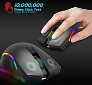 abordables -Zerodate t2 souris de jeu sans fil 2.4g souris de bureau lumière LED 2400 dpi 3 niveaux de dpi réglables 7 touches programmables