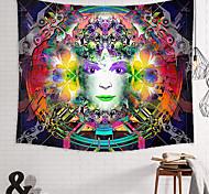 abordables -tapisserie murale art décor couverture rideau pique-nique nappe suspendu maison chambre salon dortoir décoration polyester nouveauté femme visage