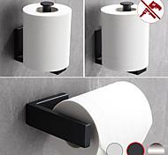 abordables -Porte-papier hygiénique porte-papier hygiénique 304 en acier inoxydable perforable ou collable fixé au mur 1 pc