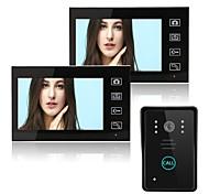 abordables -sans fil 2,4 GHz 7 pouces mains libres 800 * 480 pixel un à deux interphone vidéo