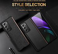 economico -telefono Custodia Per Samsung Galaxy Integrale Custodia in pelle Custodia flip Galaxy Z Fold 2 Resistente agli urti Con chiusura magnetica Con onde Tinta unica vera pelle