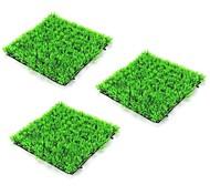 abordables -3 pcs 25 * 25 cm artificielle plante verte pelouses tapis pour la maison jardin mur aménagement paysager vert en plastique pelouse porte boutique toile de fond image herbe