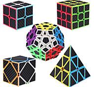 economico -Set Speed Cube 5 pcs Cubo magico Cube intuitivo Fibra di carbonio 2*2*2 3*3*3 Cubo a pazzle Cubo puzzle 3D Anti-stress Cubo a puzzle Senza adesivo Liscio Giocattoli per ufficio A piramide Megaminx