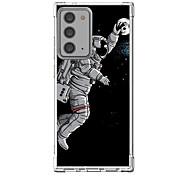 abordables -Astronaute Cas Pour Samsung Galaxy S21 Galaxy S21 Plus Galaxy S21 Ultra Modèle unique Étui de protection Antichoc Coque TPU