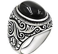 economico -anello in argento onice per uomo solido 925 sterling