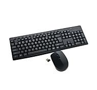 abordables -clavier sans fil ensemble de tapis de souris 2.4 GHz portable multimédia 104 touches clavier ordinateur portable pour bureau à domicile