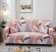 abordables -Housse de canapé imprimée géométrique Housse de canapé extensible Housses de canapé pour 1 ~ 4 coussin canapé avec une taie d'oreiller gratuite