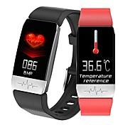abordables -T1 Smartwatch Montre Connectée pour Android iOS Samsung Apple Xiaomi Bluetooth 1.14 pouce Taille de l'écran IP 67 Niveau imperméable Imperméable Ecran Tactile Moniteur de Fréquence Cardiaque Mesure