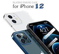 economico -telefono Custodia Per Apple Per retro iPhone 12 Pro Max 11 SE 2020 X XR XS Max 8 7 Resistente agli urti Placcato Trasparente Tinta unita TPU