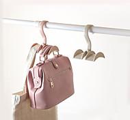 abordables -4pcs sac à main porte-sac gain de place cintre armoires porte-vêtements 360 degrés rotation écharpe suspendu rack