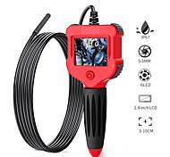 abordables -Endoscope numérique 2.4 pouces couleur écran LCD caméra endoscope caméra 5.5mm caméra IP67 étanche semi-rigide serpent avec 6 LED