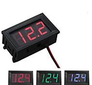 economico -voltmetro digitale dc 4.5v a 30v voltmetro digitale voltmetro pannello di tensione rosso / blu / verde per 6v 12v electromobile moto auto